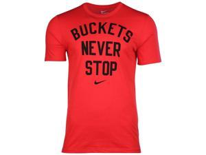 Nike Men's Dri-Fit Buckets Never Stop Basketball T-Shirt-University Red-XL