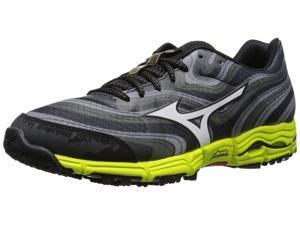 Mizuno Men's Wave Kazan Trail Running Shoe-Gray/Lime/Black-13