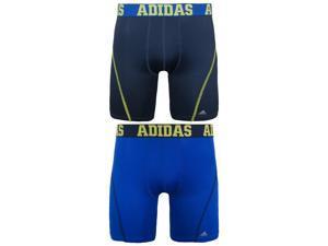 "Adidas Men's 2Pk ClimaCool Micro Mesh 9"" Midway-Collegiate Navy/Bold Blue-Medium"