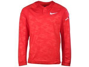 Nike Men's Baseball Vapor Long Sleeve Windshirt-University Red-Small