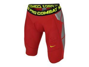 Nike Men's Dri-Fit Pro Combat Hyperstrong Speed Slider Shorts-University Red-Medium
