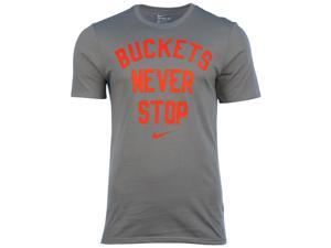 Nike Men's Dri-Fit Buckets Never Stop Basketball T-Shirt-Tumbled Grey-XL
