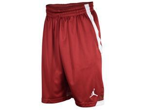 Jordan Men's Dri-Fit S. Flight Knit Jumpman Shorts-White-Team Red-Large
