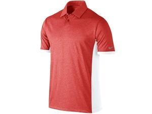 Nike Men's Dri-Fit Victory Block Golf Polo Shirt-Heather Red/White-XL