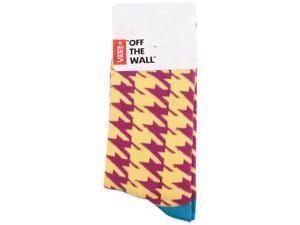 Vans Girls' Kaley Crew Graphic Socks-Mustard/Purple-1-6