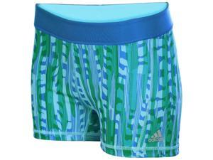 "Adidas Women's Techfit Wild Streak 3"" Printed Tight Shorts-Shoblue-Large"