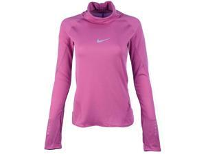 Nike Women's Aeroreact Long Sleeve Running Top-Plum-Medium
