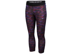 Nike Women's Relay Dri-Fit Foldover Training Crop Pants-Mulberry/Purple-Small