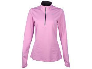 Nike Women's Dri-Fit Element 1/2 Zip Running Top-Lavender-Small