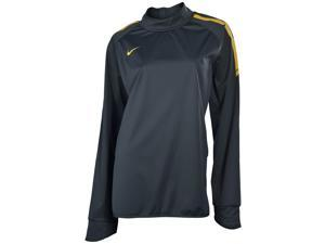Nike Women's Long Sleeve Soccer Pullover-Dark Gray/Yellow-XL