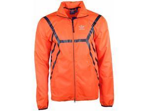 Adidas Originals Men's ZX Windbreaker Jacket-Solid red-XL