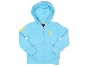 Polo Ralph Lauren Little Girls' (2-6X) Full Zip Pony Hoodie-Sky blue-6