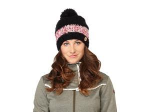 Roxy Flower Power Knit Beanie Hat-Black