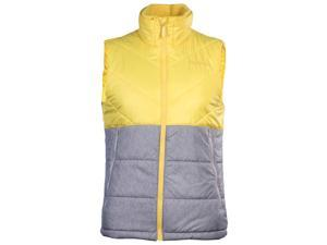 Adidas Men's Neo Sports Padded Puffer Vest-Yellow/Gray-Medium