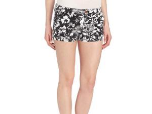 Roxy Juniors To The Top Floral Shorts-Black/White-5
