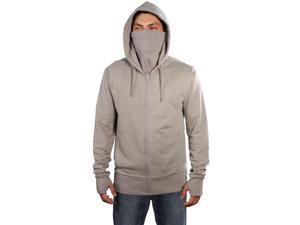 ARSNL Men's Fleece Full Zip Ninja Hoodie-Grey-Medium