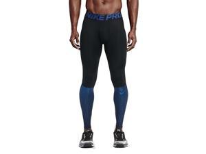 Nike Men's Pro Hypercool Max Training Tights-Black/Royal Blue-XL