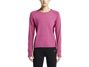 Nike Women's Dri-Fit Sprint Crew Running Shirt-Fuchsia-Small