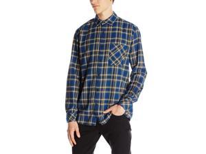 Quiksilver Men's Charad Flannel Shirt-Estate Blue-Large