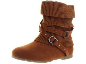 Moda Essentials Women's Strappy Buckles Sweater Booties