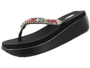 Volatile Shinebright Women's EVA Wedge Sandals Rhinestone