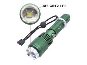 Genwiss 3000 Lumen CREE XM-L L2 LED Rechargeable Flashlight Super Bright Torch 5 modes-high,middle,low,strobe,SOS,Aluminum Alloy Adjustable Focus Zoom Light Lamp (Not Include battery and charger)