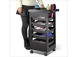 Yaheetech Beauty Salon Spa Equipment Spa Trolley Storage Removable Drawer Tray Cart