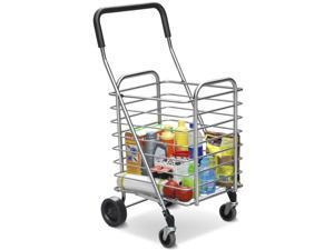 Yaheetech Portable Folding Shopping Cart Utility Cart - 360 Degrees Wheels, Lightweight Durable