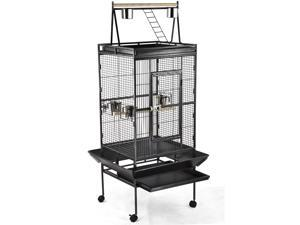 Yaheetech Pet Supply Large Play Top Bird Cage Parrot Finch Macaw Cockatoo Birdcages