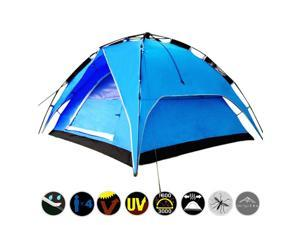 Yaheetech Outdoor Waterproof Automatic 3-4 People Camping Family Tent (Blue)