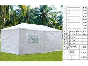Yaheetech 10'x20'Canopy Party Wedding Tent Removable 4 Sidewall Gazebo 2 Door Outdoor Patio Events