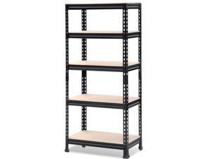 Yaheetech 5 Tier Storage Shelves Storage Rack Heavy Duty Shelf Steel Shelving Unit,27 by 12 by 60 Inch