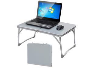 Yaheetech Portable Foldable Notebook Computer PC Laptop Table Tray Desk Stand Bed Sofa Couch Book Stand Ourdoor Picnic Table w/MDF Table Top & Aluminum Frame (White)