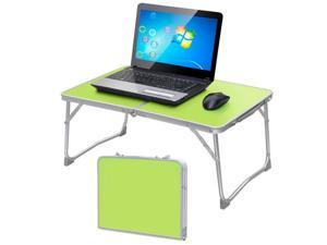 Yaheetech Portable Foldable Notebook Computer PC Laptop Table Tray Desk Stand Bed Sofa Couch Book Stand Ourdoor Picnic Table w/MDF Table Top & Aluminum Frame (Green)