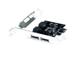 PCI-E Express To 2 Ports SATA III (3.0) + 2 Ports eSATA Expansion Card 6 Gbps SFF