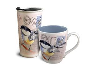 American Expedition Home & Away Vintage Chickadee Mug Set