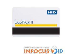 100 x HID Compatible White Prox Cards with Mag Stripe for ID Card/Badge Printers