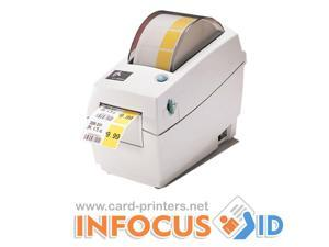 Zebra LP2824 PLUS 200DPI Direct Thermal Label Printer + USB & Power Cables