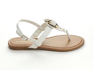 SUNNY DAY KLEAN-10 WOMEN'S  GOLD-TONE HARDWARE AND GLITTERING RHINESTONE Sandals & Flip-Flops