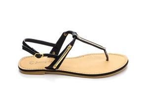 SUNNY DAY STENO-29 WOMEN'S  GOLD-TONED PLAQUE Sandals & Flip-Flops