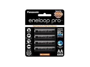 4 Pack AA Panasonic Eneloop Pro 2550mAh High Capacity Rechargeable Batteries