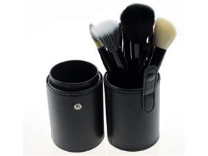MakeupAcc® Professional Makeup Brush Sets Cosmetic Brush Kit Makeup Tool with Cup Leather Holder Case (Black)