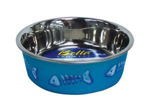 Loving Pets Fish Bella Bowl for Cat, X-Small, 1/2-Pint, Metallic Ocean Blue LP7750 LOVING PETS, INC