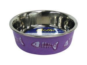 Loving Pets Fish Bella Bowl for Cat, X-Small, 1/2-Pint, Lilac LP7751 LOVING PETS, INC