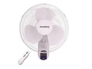 Homebasix FW40-S1 16-Inch Oscillating Wall Fan with Remote W/Remote 3 Speed