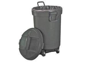 United Solutions RM133901 Roughneck Wheeled Can 32 Gal., Plastic Black