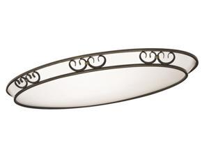 Lithonia Lighting 207U66 Artisten Oval Flush Mount Ceiling Light, White