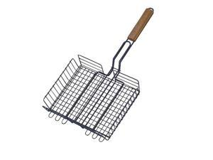 Wood Handle Barbecue BBQ Basket Broiler TOOLBASIX Grill Accessories - Generic
