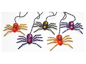 Sienna H25G6211 Halloween Creepy Glowing Spider Light Set, 4', Black