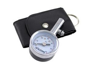 Victor 60023-8  Mini Chrome Dial Tire Gauge with Case, 5-60 PSI